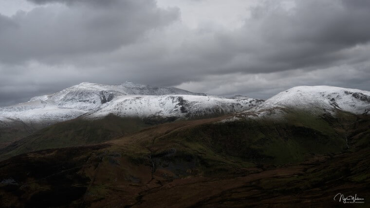 Moel Cynghorion and Snowdon Mountains