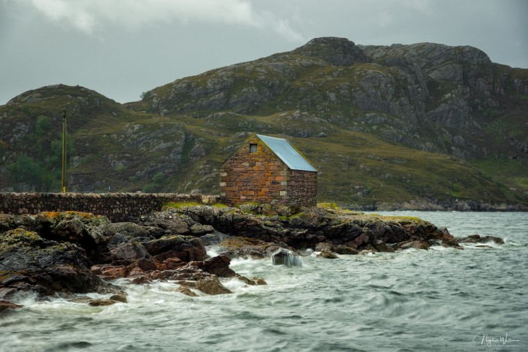 Limited Edition Landscape print of Loch Diabaig Pier